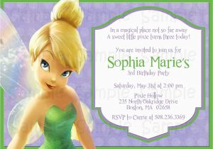 Personalized Tinkerbell Birthday Invitations Printable Tinkerbell Birthday or Baby Shower Invitation