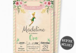 Personalized Tinkerbell Birthday Invitations Tinkerbell Birthday Invitation Tinkerbell Invitation