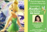 Personalized Tinkerbell Birthday Invitations Tinkerbell Disney Fairy Custom Birthday Invitation Flickr