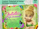 Personalized Tinkerbell Birthday Invitations Tinkerbell Invitation Custom Tinkerbell Fairy Birthday