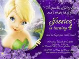 Personalized Tinkerbell Birthday Invitations Tinkerbell Personalized Birthday Invitations by