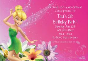 Personalized Tinkerbell Birthday Invitations Tinkerbell Personalized Invitation Cheap Personalized