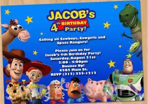 Personalized Toy Story Birthday Invitations Toy Story Invitation Toy