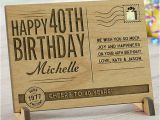 Personalized Unique Birthday Gifts for Him Unique 40th Birthday Gift Ideas for Men Women