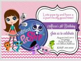 Pet Birthday Invitations Littlest Pet Shop Birthday Invitation 4×6 or by