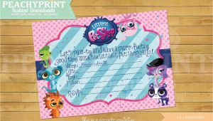Pet Birthday Invitations Littlest Pet Shop Birthday Invitation Instant Download