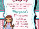Pet Birthday Invitations Littlest Pet Shop Personalized Birthday Invitation 1 Sided