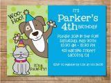 Pet Birthday Invitations Pet Party Humane society Invitation Animal Party Cat and