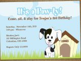 Pet Birthday Invitations Puppy Dog Birthday Party Diy Pet Adoption by