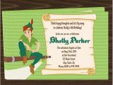 Peter Pan Birthday Invitations Free Peter Pan Birthday Party Invitations Downloadable