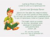 Peter Pan Birthday Party Invitations Free Peter Pan Birthday Party Invitations Downloadable
