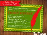 Peter Pan Birthday Party Invitations Items Similar to Peter Pan Birthday Invitation On Etsy