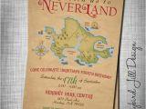 Peter Pan Birthday Party Invitations Neverland Birthday Invitation Peter Pan Party Treasure Map