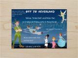 Peter Pan Birthday Party Invitations Peter Pan Invitation Peter Pan Birthday by Digitaldesignsbykay