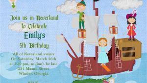 Peter Pan Birthday Party Invitations Peter Pan Invitations Birthday Best Party Ideas