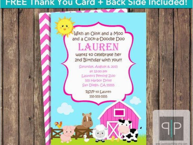 Petting Zoo Birthday Party Invitations Instant Download Farm Animals