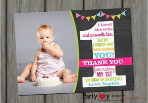 Photo Thank You Cards First Birthday 21 Free Printable Psd Eps