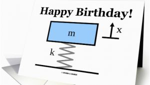 Physics Birthday Card Happy Birthday Physics Mass Spring Damper Illustration Card
