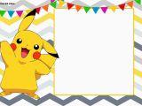 Pikachu Birthday Invitations Free Printable Pokemon Invitation Templates Free