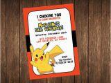 Pikachu Birthday Invitations Items Similar to Pikachu Birthday Invitation Printable On Etsy