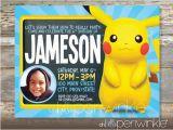 Pikachu Birthday Invitations Pikachu Birthday Invitation by Ohhelloperiwinkle On Etsy