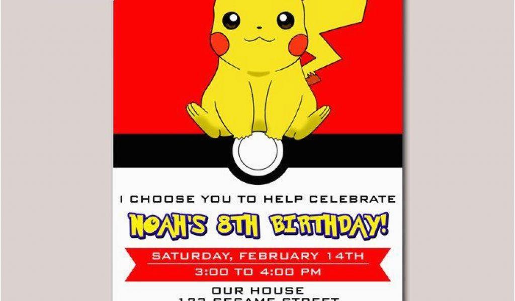 Pikachu Birthday Invitations Pokemon Ball Pikachu Anime Birthday