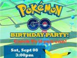 Pikachu Birthday Invitations Pokemon Go Pikachu Birthday Party Invitations Personalized