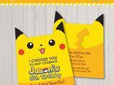 Pikachu Birthday Invitations Pokemon Inspired Birthday Party Invitation Pikachu Character