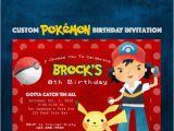 Pikachu Birthday Invitations Pokemon Party Invitation Pikachu Party Gamer 5×7