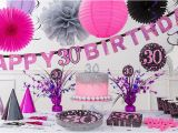 Pink 30th Birthday Decorations Pink Sparkling Celebration 30th Birthday Party Supplies