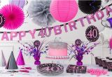 Pink 40th Birthday Decorations Pink Sparkling Celebration 40th Birthday Party Supplies