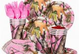 Pink Camo Birthday Decorations Pink Camo Party Standard Tableware Kit Serves 8