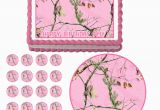 Pink Camo Birthday Decorations Real Tree Pink Camo Edible Cake topper Cupcake Decoration