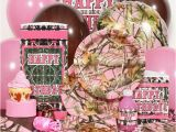 Pink Camo Birthday Party Decorations Pink Camo 1st Birthday Party Supplies