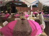 Pink Cheetah Print Birthday Decorations Cheetah themed Party