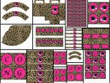 Pink Cheetah Print Birthday Decorations Graduation theme Pink Cheetah Printable Party Package