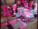 Pink Cheetah Print Birthday Decorations Hot Pink and Leopard Print Baby Shower I Want to Know