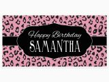 Pink Cheetah Print Birthday Decorations Pink Cheetah Animal Print Birthday Banner Personalized