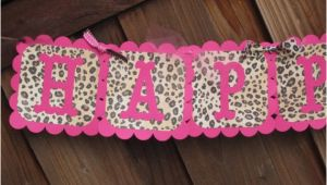 Pink Cheetah Print Birthday Decorations Pink Leopard Animal Print Birthday Banner Leopard Party