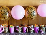Pink Cheetah Print Birthday Decorations Super Simple Cheetah Birthday Party Ideas Overstuffed