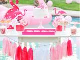Pink Decorations for Birthday Parties Kara 39 S Party Ideas Flamingo Pool Art Summer Birthday