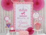 Pink Decorations for Birthday Parties Kara 39 S Party Ideas Pink and Purple Carousel Birthday Party