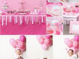 Pink Decorations for Birthday Parties Kara 39 S Party Ideas Pretty In Pink 1st Birthday Party