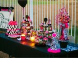 Pink Decorations for Birthday Parties Pink and Black Party Decorations 3 Background Wallpaper