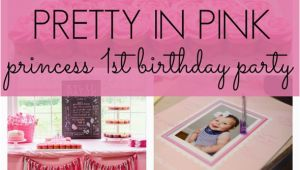 Pink Decorations for Birthday Parties Pretty In Pink First Birthday Party Pretty My Party