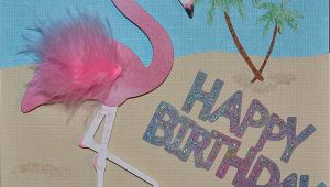 Pink Flamingo Birthday Cards Cricut Flamingo Birthday Card Just4crafters