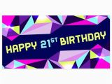 Pink Happy Birthday Banner Walmart Pink and Purple Geometric 21st Birthday Banner Walmart Com