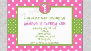 Pink Polka Dot Birthday Invitations Hot Pink Polka Dot Birthday Invitation Polka Dot Birthday
