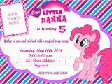 Pinkie Pie Birthday Invitations 12 My Little Pony Pinkie Pie Birthday Party Invitations