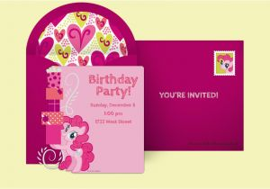 Pinkie Pie Birthday Invitations Free My Little Pony Invitations My Little Pony Online
